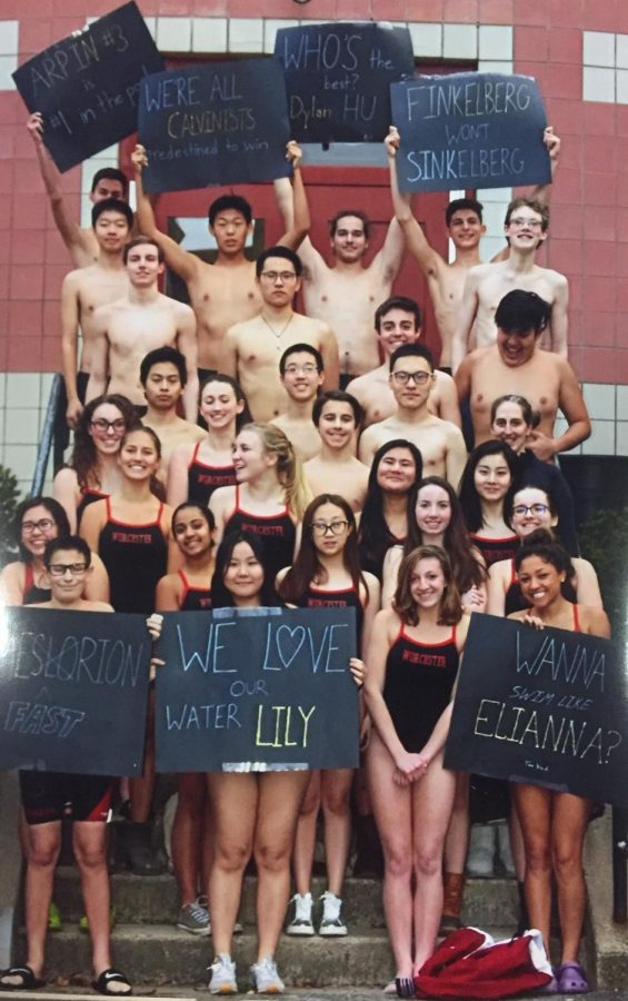 Worcester Academy 2017-2018 Swim Team (Photograph by Ms. Gould)
