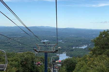 A view from the chairlift at Mount Wachusett